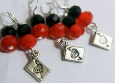 House Sock: Gambit Stitch Markers by midnightscribbles on Etsy
