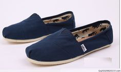 Toms Classic Shoes Womens Navy Canvas