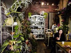 Florist shop and cafe in Hong Kong