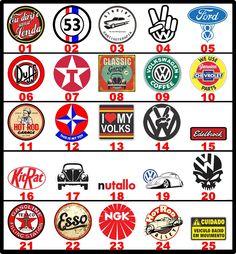 Adesivos Carros Antigos/vintage/retro Marcas Antigas - R$ 2,49