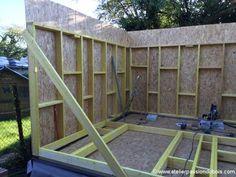 construction atelier bois part4. Construction d'un atelier en ossature bois. Partie 4 : Construction des murs en ossature bois sec et panneaux OSB