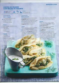 Revista bimby 2014 junho Savory Crepes, What To Cook, Fresh Rolls, Cooking Time, Good Food, Food And Drink, Easy Meals, Veggies, Low Carb