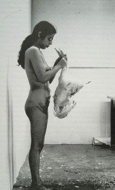 "Ana Mendieta ""Death Of A Chicken"" (1972)"