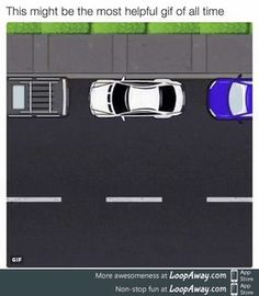 Visual of how to parallel park