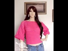 """How To Crochet A Super Super Easy Sweater"" For Beginners - YouTube"