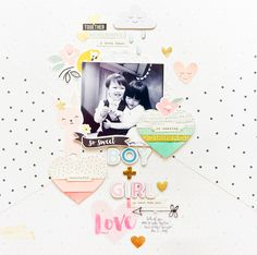 "Today I'll be sharing with you a layout created with the theme ""Lovely Layouts"". 12x12 Scrapbook, Scrapbook Journal, Scrapbook Sketches, Scrapbook Page Layouts, Scrapbook Albums, Scrapbooking Ideas, Crate Paper, Paper Art, Paper Crafts"