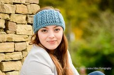 TYRA    Blue Crochet Hadmade Headband by NecessoriesbyMIA on Etsy, #crochet #headband #crochetheadband #giftidea #NecessoriesbyMia #winter