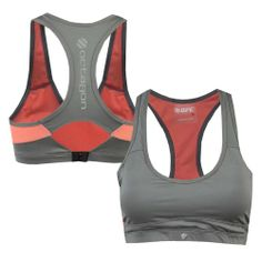 Octagon Womens Kinetic Sports Bra [Grey/Orange]   UFC Store