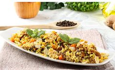 Gemüse mit Couscous und Cashewkernen