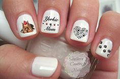 Yorkie Mom Nail Art Decals by SouthernCountryNails on Etsy