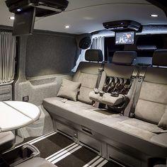 Vw T5 Interior, Custom Van Interior, Vw Caravelle, Vw Camper, Vw T4 Tuning, Vw Transporter Van, Luxury Van, Van Storage, Automotive Upholstery