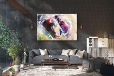 Items similar to Large Modern Wall Art Painting,Large Abstract wall art,painting colorful,xl abstract painting,canvas wall art on Etsy Large Abstract Wall Art, Large Canvas Art, Wall Canvas, Large Painting, Painting Canvas, Knife Painting, Acrylic Canvas, Oversized Canvas Art, Bright Paintings