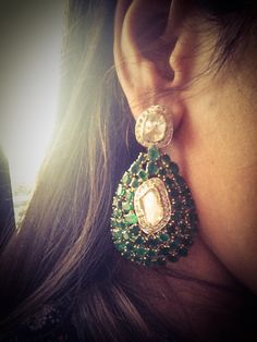 Open polki with diamonds sprinkle and emeralds!