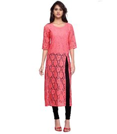 875b0c8a334b Buy Embroidered Rachel Net Pink Kurti Online at Low prices in India on  Winsant #kurti