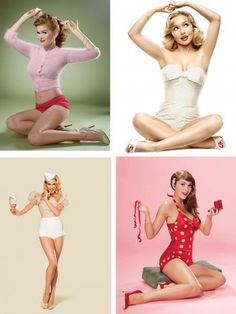 Pin up poses by celebrities. FB friendly poses :P