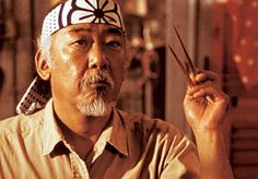 Mr. Kesuke Miyagi-san. An honorable, inspiring teacher and badass in his own right. Also my cat's namesake :)