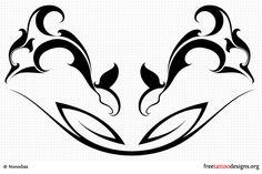 Lower back dolphin tattoo design