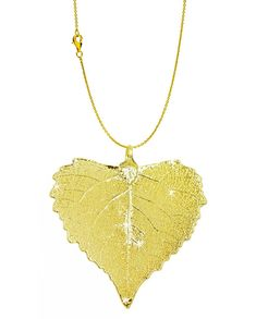 Real Leaf PENDANT with Chain BIRCH Dipped in Iridescent Copper