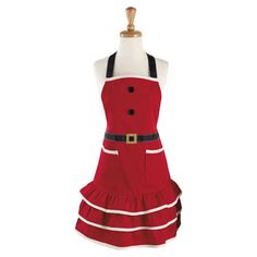 Whip up heavenly gingerbread cakes, delectable sugar cookies, and other seasonal delights in chic style with this charming apron.  P...