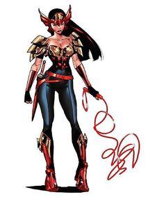 Wonder Woman design for Earth 2 Society by Jorge Jimenez #jorgejimenez…