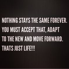 We must adapt. Grow. Some will be lost and greater things will be gained. Apreciate the ride.