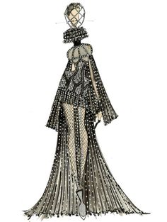 fashion illustration sketches alexander mcqueen - Google Search
