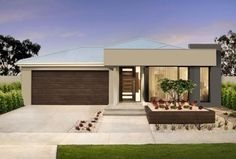 Browse residential land development plans with Bayview on the Bellarine Estates; Get discounts on our magnificent residential land development plans to enhance your savings; Single Floor House Design, House Front Design, Modern House Design, Flat Roof House, Facade House, Gable House, Modern House Facades, Small Modern Home, Home Building Design