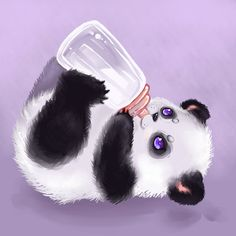 panda by Mechanical2127 on DeviantArt dear sweet Jesus my heart!!! Hhhnnmmgh!
