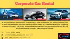 Looking for Corporate Car? Exclusive Limo is the best car rental company in Singapore providing Corporate car rental at your home. They believe in a long-term relationship with their clients. Vehicle Rental, Best Car Rental, Car Rental Company, Commute To Work, Free Cars, Time Saving, Limo, Singapore, Relationship