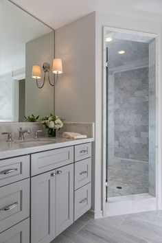 A home remodel project is a great way to spruce up your home and add a feeling of newness to the space. The bathroom is the perfect place to begin your home remodel process. It's one of the smaller rooms… Continue Reading → Home Interior, Bathroom Interior, Interior Colors, Interior Design, Bathroom Renovations, Home Remodeling, Home Design, Diy Design, Rustic Design