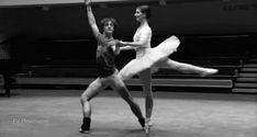 Before and after - Lauren Cuthbertson and Sergei Polunin in a Sleeping Beauty rehearsal