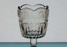 Peg Votives Diamond Point Clear Vintage Candle Holders Votive Cups Paneled Flare