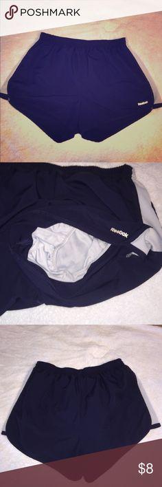 Reebok navy running shorts Reebok navy lightweight running shorts with built-in underwear Reebok Shorts