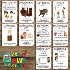 Produkt - HISTORIE ČESKÝCH ZEMÍ 2 – plakáty Crazy Owl, Studio, English, Homeschooling, Historia, Poster, Studios, English Language, Homeschool