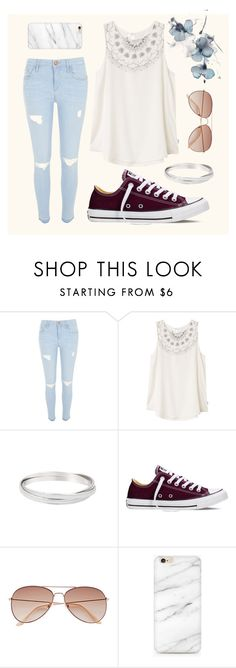 """""""Everyday fashion"""" by jayds73 ❤ liked on Polyvore featuring River Island, RVCA, Converse and H&M"""
