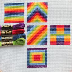 Time for Rainbow Block 5 in my cross stitch series - this one might be my favourite so far!
