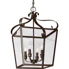 Sea Gull Lighting Lockheart 4 Light Foyer Lantern Pendant & Reviews | Wayfair
