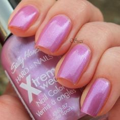 Nailpolis Museum of Nail Art | Sally Hansen Xtreme Wear 87 Violet Sparks Swatch by Suzi - Beauty by Suzi
