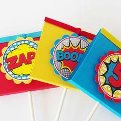 Boy Superhero Lollipop Party Favors