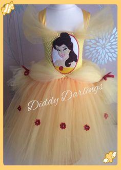 Belle Tutu Dress Disney Princess Dress Party Fancy Christmas Play Beauty Beast #DiddyDarlings #CasualFormalParty