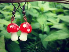 Mystic Mandalas: Shroomie earrings ZAR 80 Shop now.