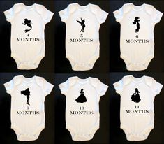 Disney Princess Monthly Baby Onesie Bodysuit by GoGetYourGeekOn, $50.00