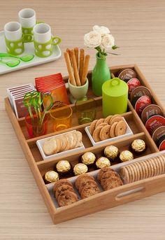 Que tal essa bandeja para deixar a sua mesa de café linda e organizada?