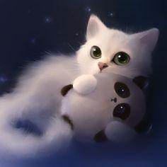 Explore Cute Anime Cat Wallpaper on WallpaperSafari Wallpaper Gatos, Cat Wallpaper, Animal Wallpaper, Artistic Wallpaper, Cover Wallpaper, Amazing Wallpaper, Wallpaper Wallpapers, Cartoon Wallpaper, Cute Anime Cat