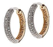 Fantastic idea-not only do these beautiful white and champagne diamond hoops look like Inside-out's, but you can also reverse them! So, you have white diamond hoops when you want, or a flashier champagne earring should you desire. Very clever, and they are perfectly sized, just gorgeous.
