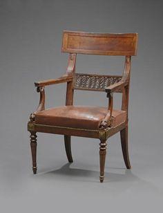 Berg re retour d 39 gypte support d 39 accotoirs en cariatide ail style empire pinterest - Garde meuble fontainebleau ...