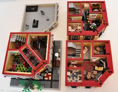 LEGO® MOC: Modular Wine and Flower Shop