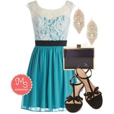 """Shortcake Story Dress in Teal"" by modcloth on Polyvore,,Love it all,,,"