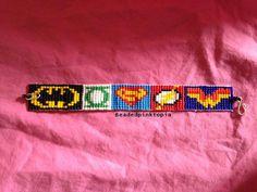 bead weaving patterns for bracelets Loom Bracelet Patterns, Beaded Necklace Patterns, Beaded Cuff Bracelet, Bead Loom Bracelets, Friendship Bracelet Patterns, Pony Bead Patterns, Beading Patterns Free, Weaving Patterns, Mosaic Patterns