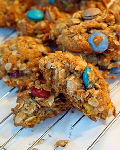 "Peanut Butter Oatmeal""monster"" cookies - incentive for the last mile of the hike! (Gluten free)"
